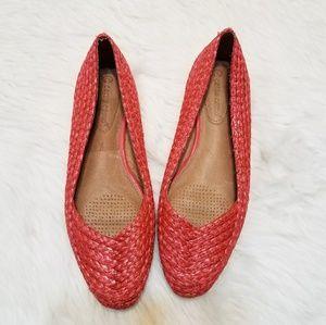 Corso Como Salmon Basket Woven Flats